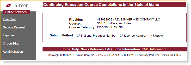 If specific classroom offerings were conducted recently for a particular course, offering information (including location, date, and time) will display nested under the course information.