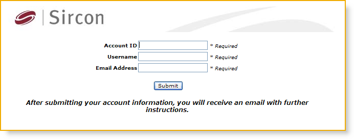 You will be taken to a page where you may enter other user information and obtain instructions on how to change your