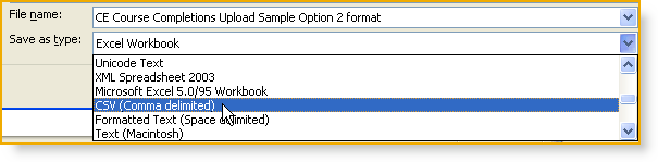 Don t worry if a course completion record does not contain data to satisfy all of the fields identified in the header row. For fields where there is no data to enter, simply leave them blank.