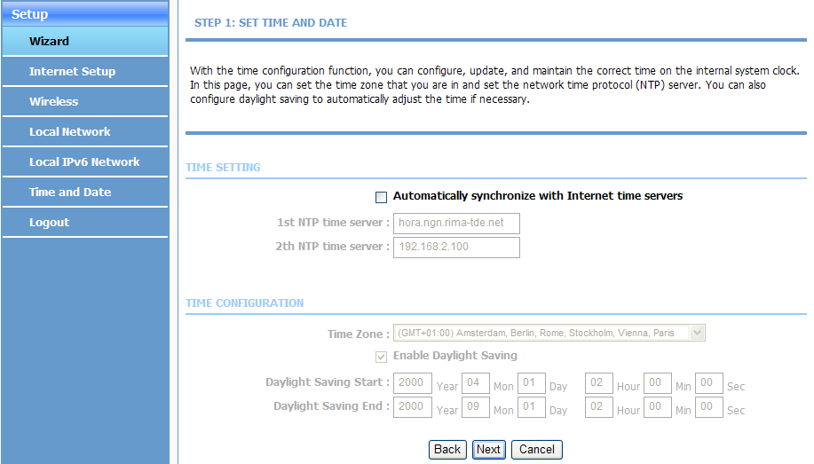 ZXHN H108N Maintenance Management Manual Figure 3-1 SETTING UP YOUR INTERNET Page 2. Click Setup Wizard. The WELCOME TO SETUP WIZARD page is displayed. 3. Click Next.