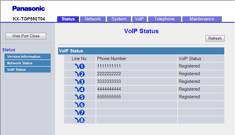 3.3.3 VoIP Status DNS2 Indicates the specified IP address of the secondary DNS server (reference only). If the secondary DNS server address is not specified, this field will be left blank.
