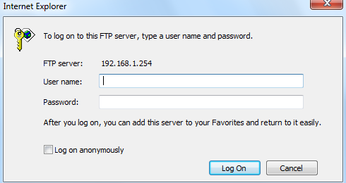 Access Management 105 Example: How to setup FTP: 1. Access via FTP tools Take popular FTP tool of FlashFXP for example: 1) Open FlashFXP 2) Create ftp sites (LAN IP / WAN IP, 192.168.1.254, and set the account, port).