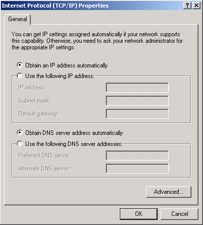 Basic Installation 18 Configuring PC in Windows 2000 (IPv4) 1. Go to Start / Settings / Control Panel. In the Control Panel, double-click on Network and Dial-up Connections. 2. Double-click Local Area Connection.