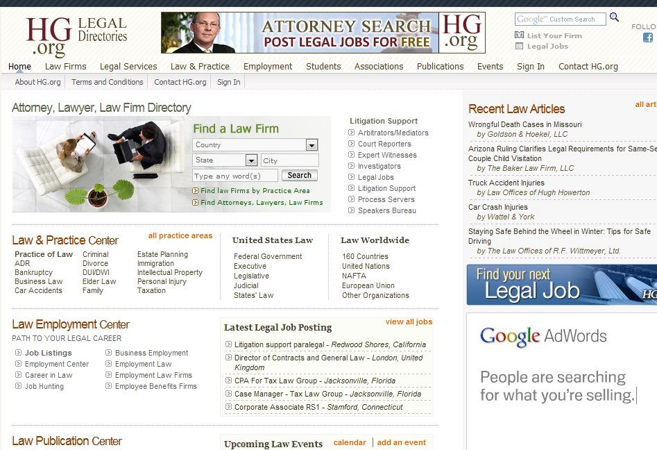 Link Building Strategies Legal Directories Nolo.com JDSupra.com Avvo.com HG.