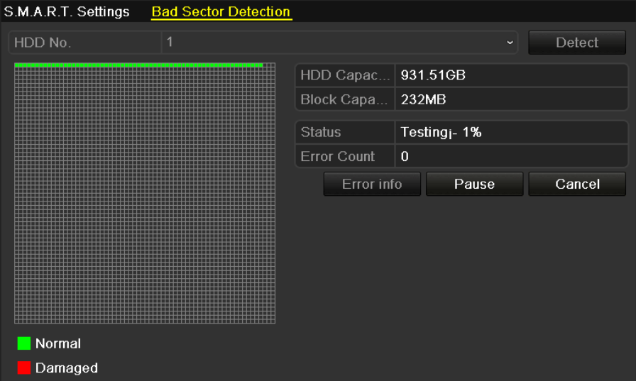 10.7 Detecting Bad Sector Purpose: The bad sectors of a HDD may cause the system to slow down when reading or writing data.