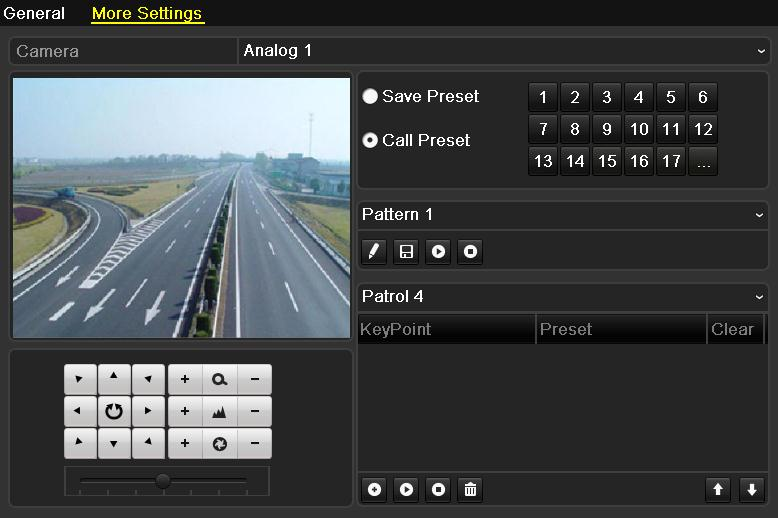 Figure 4.4 PTZ- Call Preset 3. Choose the preset number. Call preset in live view mode: 1.