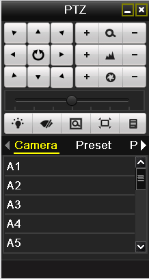 Choose Camera in the list on the menu. 3. Choose preset in the Preset list. 4.2.