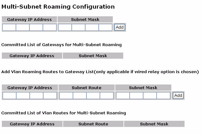 Chapter 5 Managing Clients associated client is roaming, the client will lose connectivity, unless a redundant gateway is operational in the same home subnet and included in the multi-subnet roaming