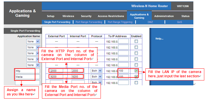 Figure 3.30 3 Use domain name to access the camera via internet After the port forwarding is finished, you can use the domain name+ http no. to access the camera via internet. Take hostname ycxgwp.