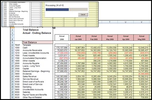 SETUP MODEL WORKBOOK You modify an XCELLEGEN financial reporting template designed to import data from an XCELLEGEN database just for financial reporting.