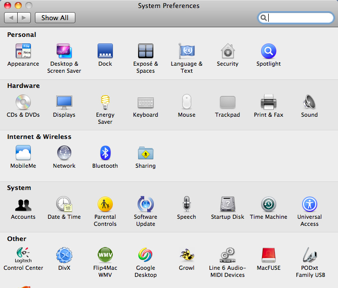 8 Select [System Preferences] from the Apple menu of