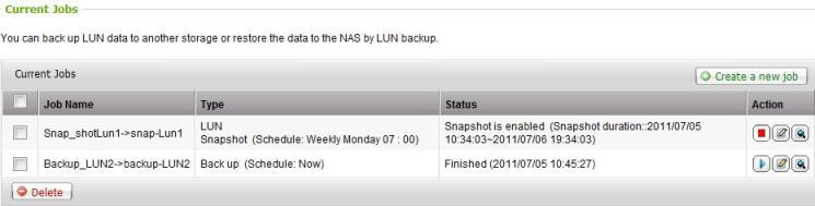 Virtualization : iscsi LUN Snapshot & Backup LUN Backup: Instant or scheduled backup