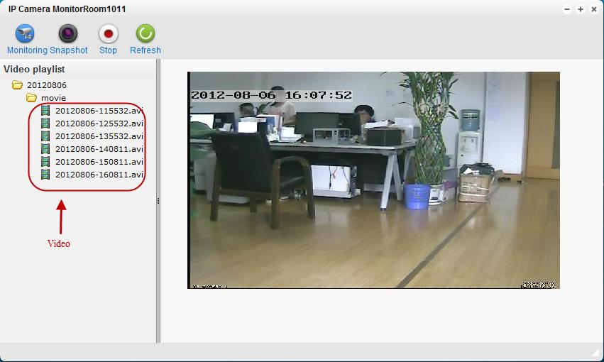 If the camera is configured successfully, real-time video should be displayed on the screen.