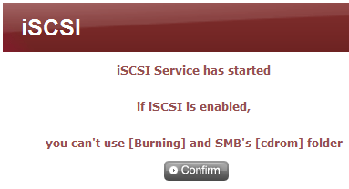 ISCSI Using ISCSI in Windows XP 1 Connect to LG NAS 2 Go to Service -> ISCSI, click Enable and then