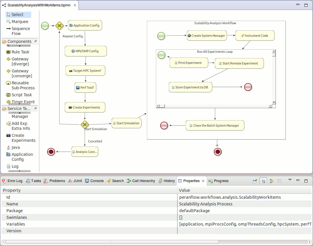 8.2. jbpm Workflow Execution Environment used to modify any constrains or possible settings required for the successful execution the nodes.