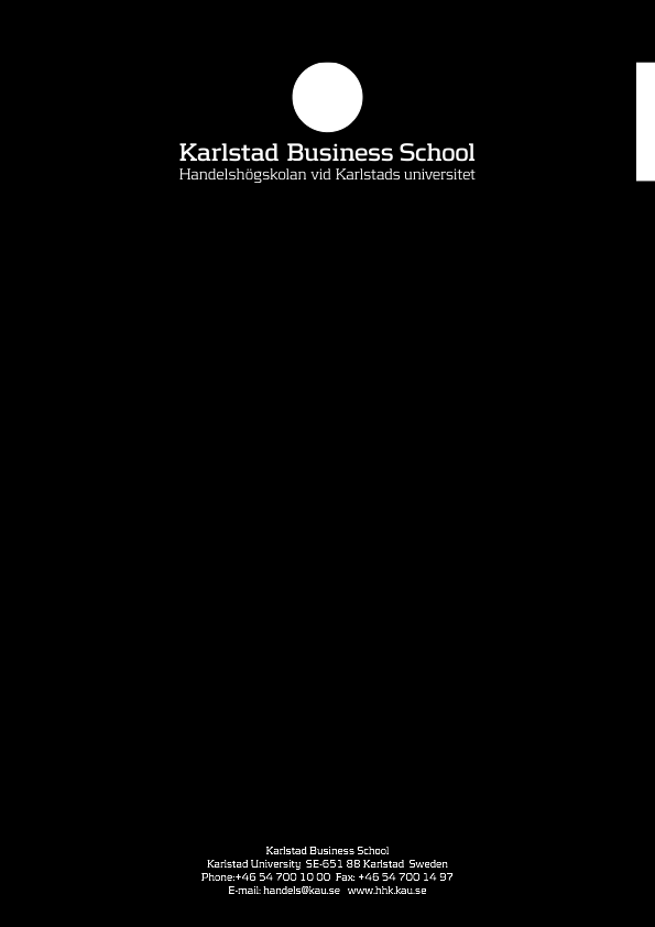 The motivation and satisfaction of the students towards MBA at Karlstad University Business Administration Master s Thesis-One year