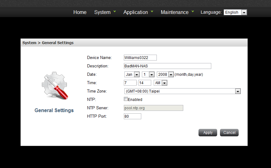 Chapter 4: Application Application menu displays functions under this category. Samba Users can use Samba to download and upload files between NAS and client PCs.