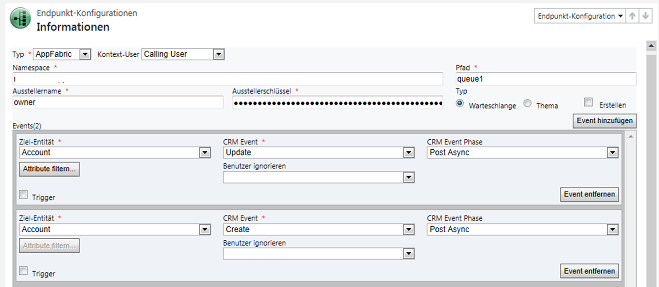 3.2 Rödl Microsoft Dynamics CRM Event Pipeline Microsoft Dynamics CRM is not able export events (e.g.