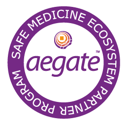 Pharmacies and Hospitals are able to integrate the Aegate service in their software.