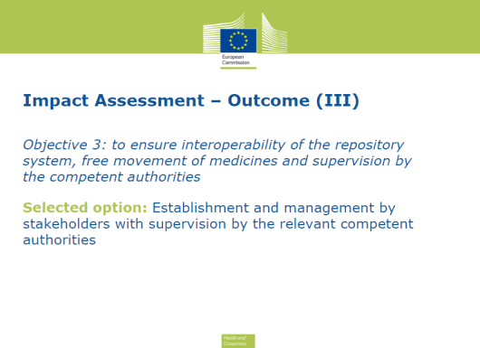 The FMD requires all 28 Member States to have a system in place to detect falsified medicines: uniquely serialised medicine packs, tamper-proof seals and their authenticity verified before being