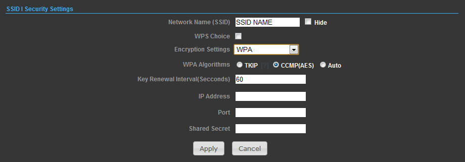 -Encrypt Type Selects WEP for data encryption (OPEN mode only). -Security Key Index Selects the WEP key number to use for authentication or data encryption.