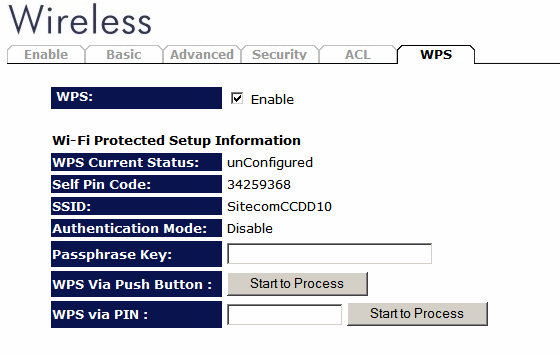 WPS Wi-Fi Protected Setup (WPS) is the simplest way to establish a connection between the wireless clients and the wireless router.