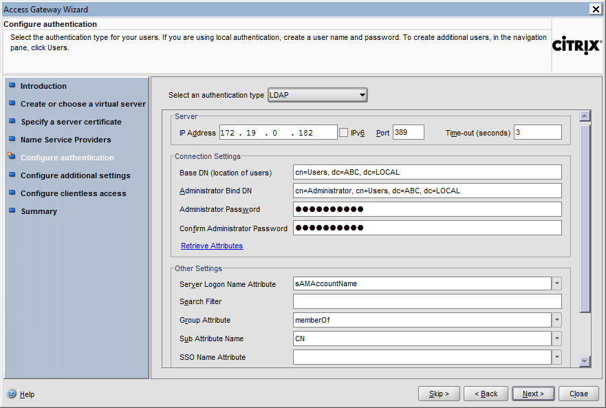 Configuring Citrix Access Gateway Enterprise Edition 11 At the Access Gateway Wizard screen, provide the key file password which was specified on Step 4 of Creating a Request, Key, and Certificate
