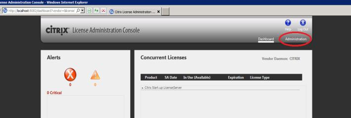 Configuring Citrix License Server 11.