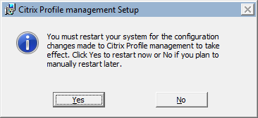 Citrix User Profile Manager Client Side Installation 7 The Citrix Profile Management setup will begin installing on the local filesystem. Allow it to proceed to completion.