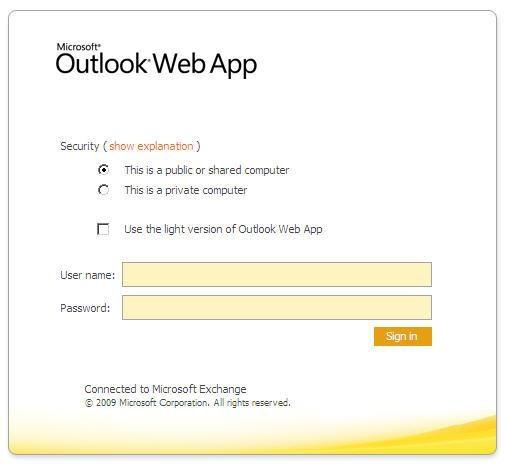 Getting Started with the OWA What is the Outlook Web Access?
