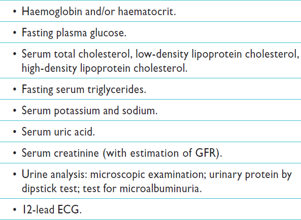 Routine lab. for Hypertension Mancia G. 2013 ESH/ESC guidelines. Eur H J doc 10.