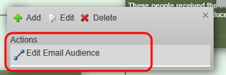 The Actions dialog box appears: 4. Click Add and a dialog box appears.