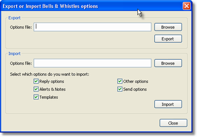 Using Options per Outlook Profile 30 for another Outlook profile.