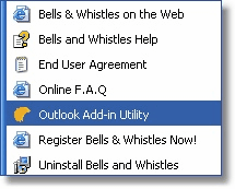 31 Bells & Whistles for Outlook settings, click on the Import button. Please note that, by importing a Bells & Whistles options file, you are overwrite your existing Bells & Whistles options.