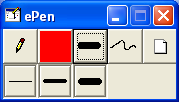 5.11 Drawing Toolbar The drawing toolbar is invoked when the teacher presses the Drawing button in the Teacher Broadcasting Toolbar or the Remote Control Toolbar.