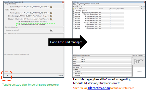 6.1.1 Enovia-2-Ansa Output Below are the products of the Enovia-2-Ansa process translated cad representation for all parts, representing the exact result of the CATIA to ANSA translation common