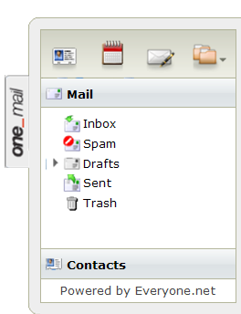2.1 Navigation Pane Web Mail Home Page The Navigation Pane shows icons that you use to access your address book, view your calendar, write a new message, and apply folder actions.