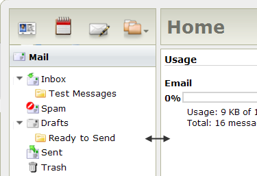Information and messages from your administrator may occasionally appear below the Usage section.