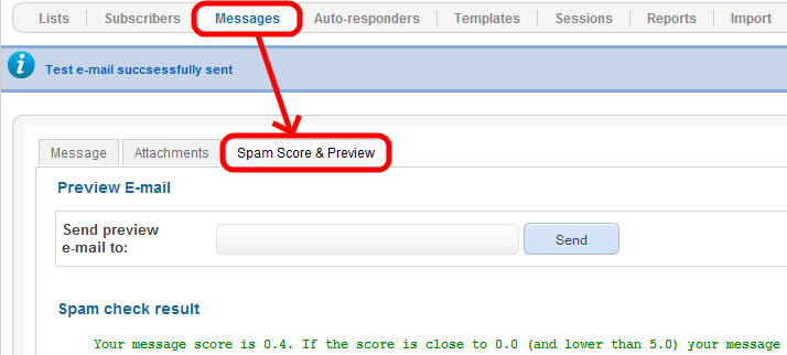 Step 7: Sending a message 7.1. Sending a test email Path: Joomla! backend panel >> RSMail!
