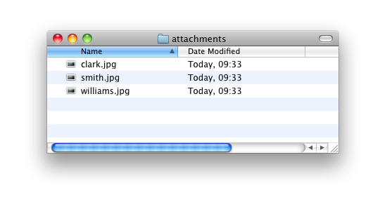 25 4 Attachments As with any normal e-mail client, you can add attachments to your mail.