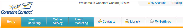 Step 3: Create an Email Using the BCCC Template Click on the Home tab to return to Constant Contact s home page.