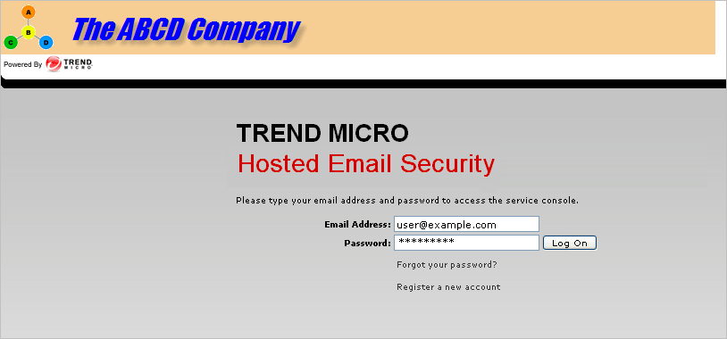 Administration and IP Reputation will display only in the banner bar of the Hosted Email Security Web EUQ associated with that domain. FIGURE 5-14.