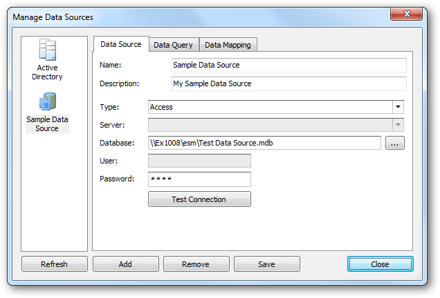 Custom Data Source chapter. Configure a Custom Data Sources This topic explains how to create or edit a custom data source for use with your templates.