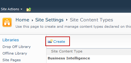 Adding a New Content Type to a Library When creating an email content type, suitable SharePoint permissions are required.