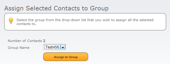 5.1.1 Add Selected Contacts If you have already created or imported contacts (see below), which you have selected from the Address Book section, you can add these contacts to your group by ticking