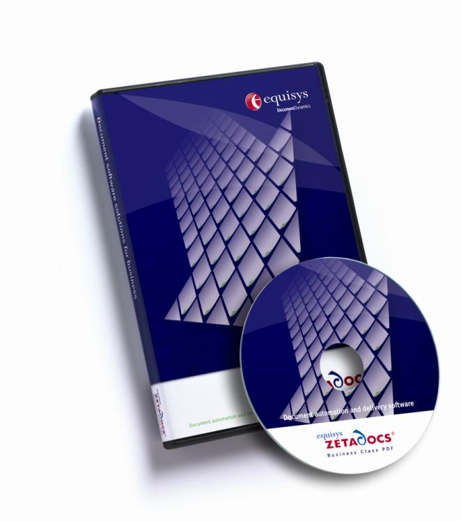 Zetadocs for Microsoft Dynamics NAV Advanced Configuration Guide Version history Version: 20/05/2009 Equisys plc Equisys House 32 Southwark Bridge Road London SE1 9EU United Kingdom Tel + 44 (0)20