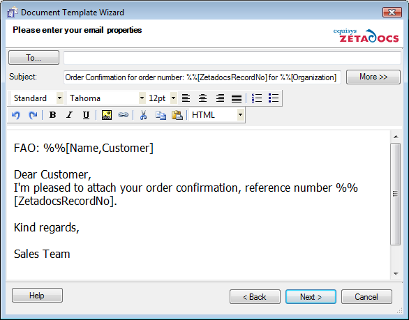 Send Any Report: Custom Send (iv) GetCompanyForReport Similar to GetContactForReport this function allows you to implement custom logic for determining the Company No. value.