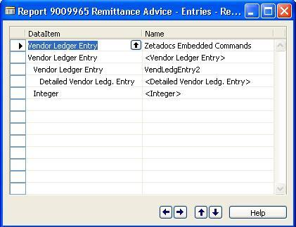 Advanced Zetadocs for NAV Report Writing: Modifying the reports Step 1: Create Zetadocs Embedded Commands Data Item In the report designer select an empty row and create a new data item.