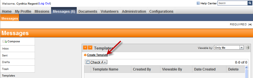 4. Enter the new template information in the fields (see below).