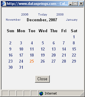 7.26.1 Textbx with Calendar The fllwing screenshts demnstrates the Textbx and Calendar date type as seen by the end users.
